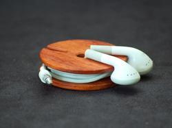 Wooden Earphone Cord Organizer