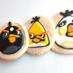 Handmade Angry Birds Sugar Cookies