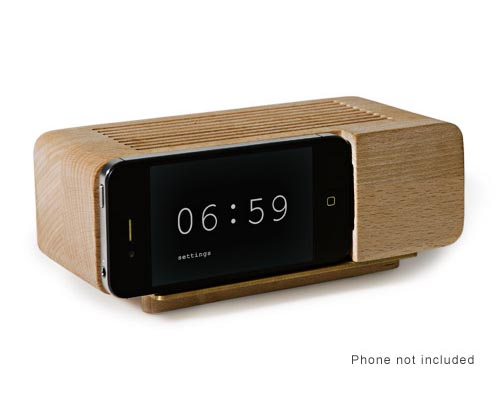 Areaware Alarm Clock Works with iPhone 4