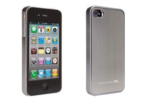 Barely There Brushed Aluminum iPhone 4 Case