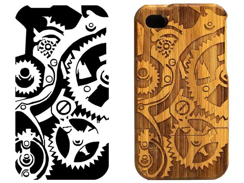 custom wooden iphone 4 case gadgetsin