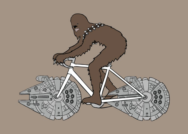 Illustrations Combined With Bikes And Star Wars And