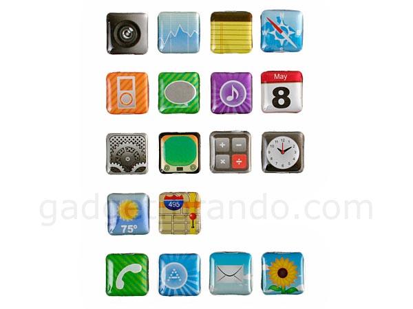iPhone Apps Fridge Magnet Set
