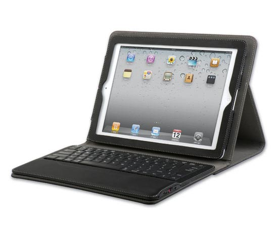 Qmadix Portfolio iPad 2 Case with Removable Bluetooth Keyboard