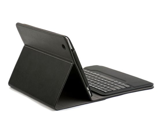 Qmadix Portfolio iPad 2 Case with Removable Bluetooth Keyboard
