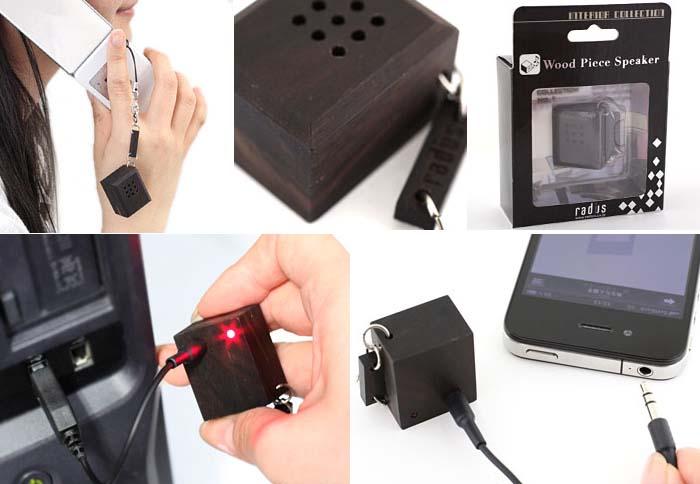 Radius Ebony Wood Mini Speaker