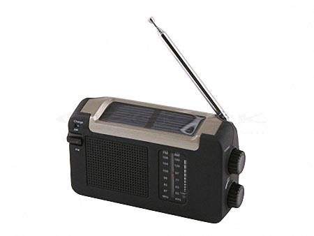 Solar Powered AM FM Radio with Hand Crank