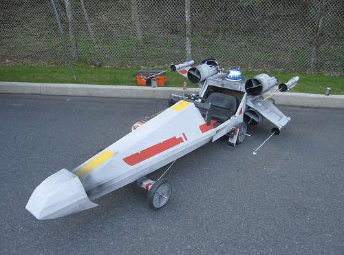 Star Wars X-Wing Fighter Soapbox Derby Car