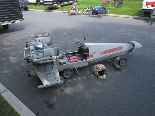 Star Wars X-Wing Fighter Soapbox Derby Car