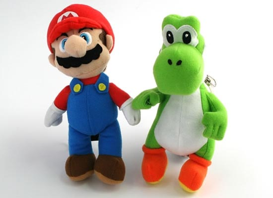 Super Mario and Yoshi Plush Coin Purses and Keychains