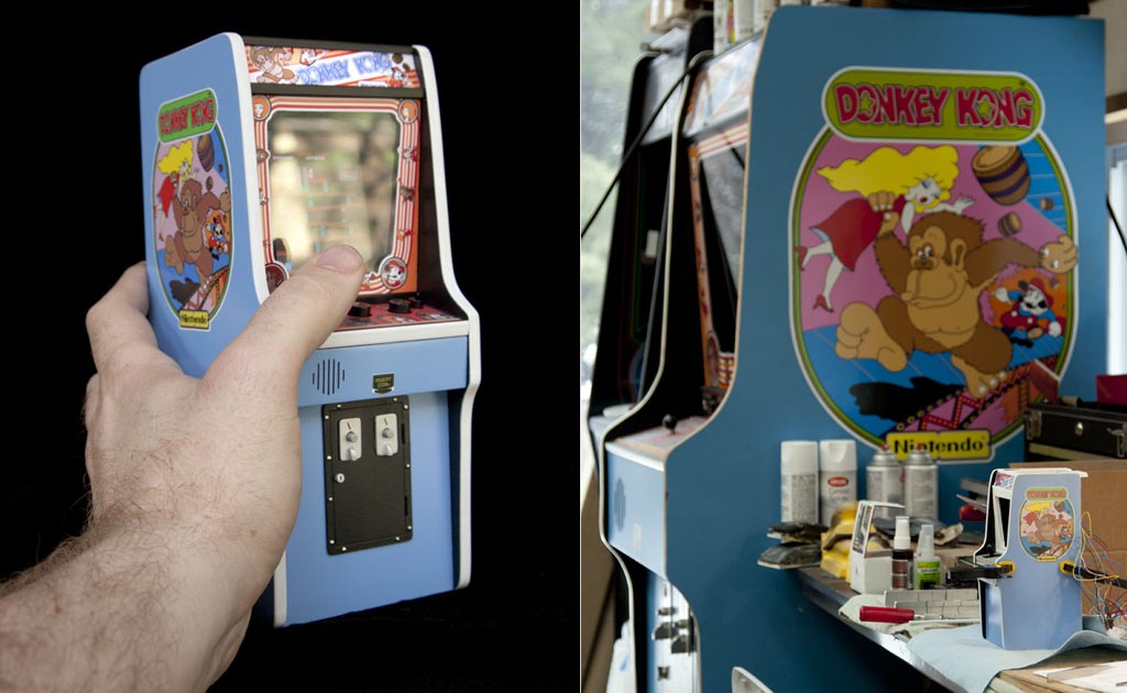The Smallest Donkey Kong Arcade Machine In The World