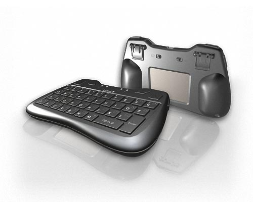 Thumb Keyboard with Rear Touchpad and Bluetooth Technology