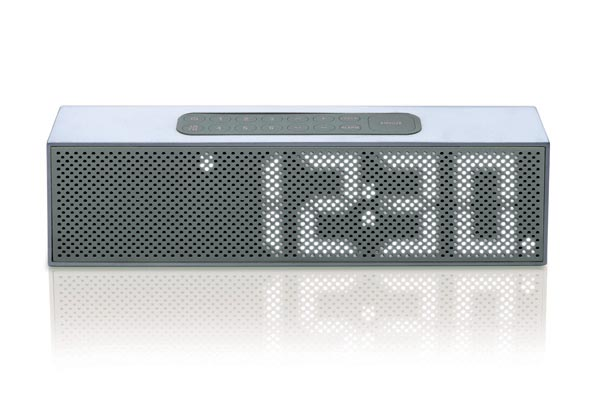 Titanium Bluetooth Wireless Speaker and Clock Radio