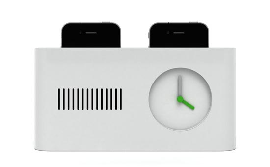 Toaster Styled iPhone Docking Station with Alarm Clock