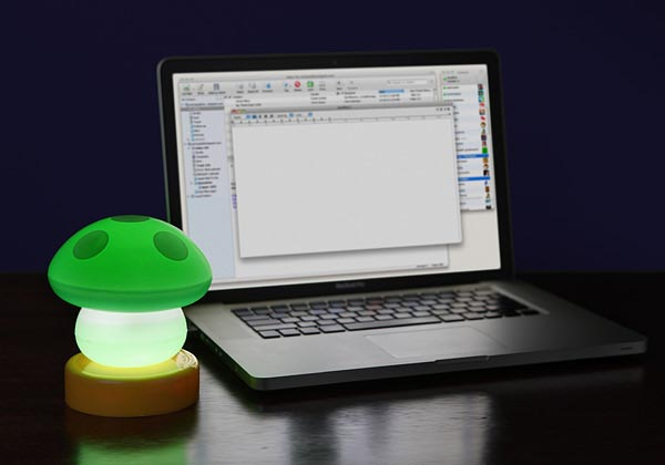 USB Mushroom Lamp Not for Super Mario