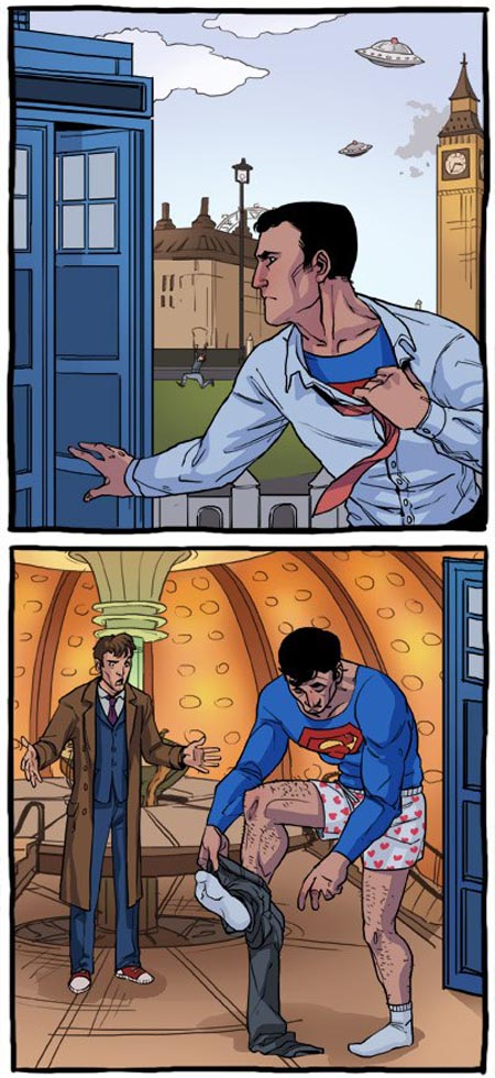 Superman Met Doctor Who's TARDIS
