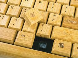 USB Bamboo Computer Keyboard and Mouse
