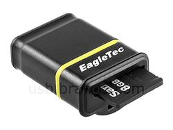 EagleTec Nano USB Flash Drive with MicroSD Card Reader