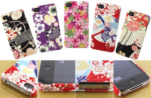 Kimono iPhone 4 Case with Japanese Traditional Fabric