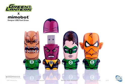 Mimoco Green Lantern Mimobot USB Flash Drives