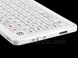 USB Mini Wireless Keyboard with Rear Touchpad