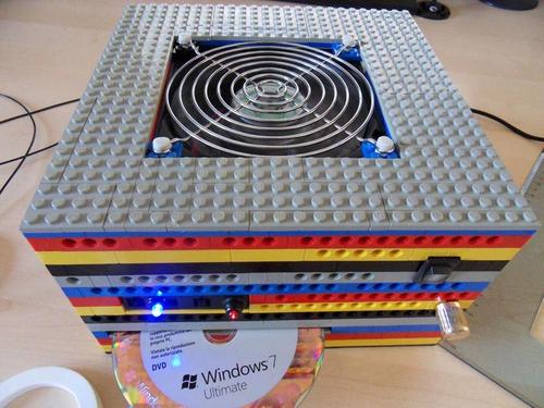 Computer Case Made of LEGO Bricks