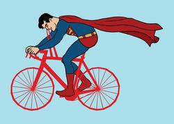 Illustrations Combined with Bikes and Star Wars and Superheroes