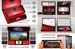 Bento Book Composed of Laptop, Tablet, Smartphone and SSD Drive