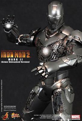 Hot Toys Iron Man Mark II Collectible Figure Armor Unleashed Version