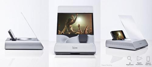 Hive iPhone 4 Dock with Passive Amplifier and Fresnel Lens