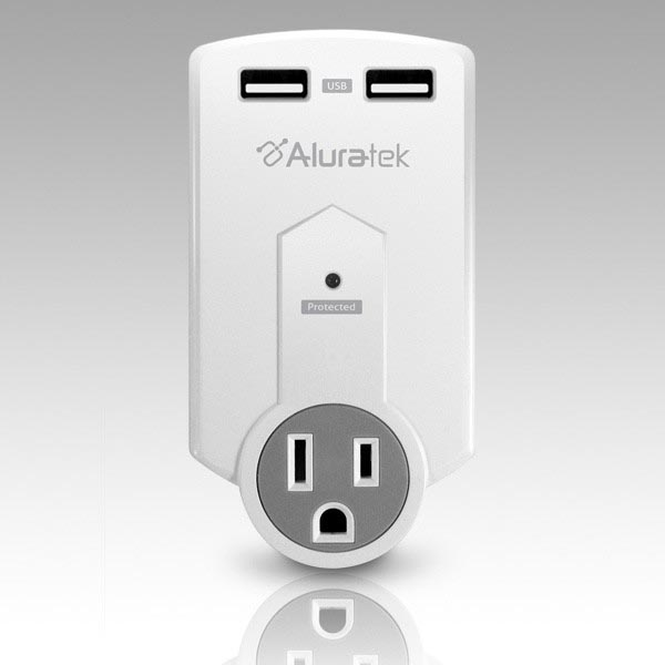 Aluartek Mini Surge Dual USB Charging Station