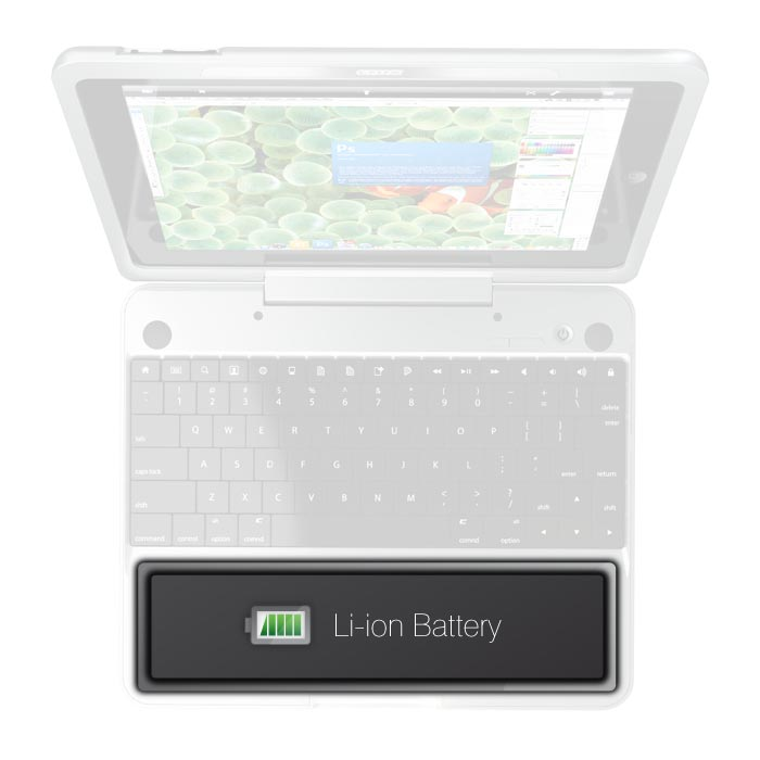 Crux Loaded iPad 2 Keyboard Case with Trackpad and Back Up Battery