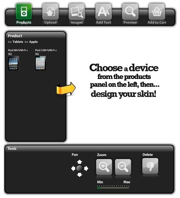 Customize Your Own MusicSkins IPad 2 Skin