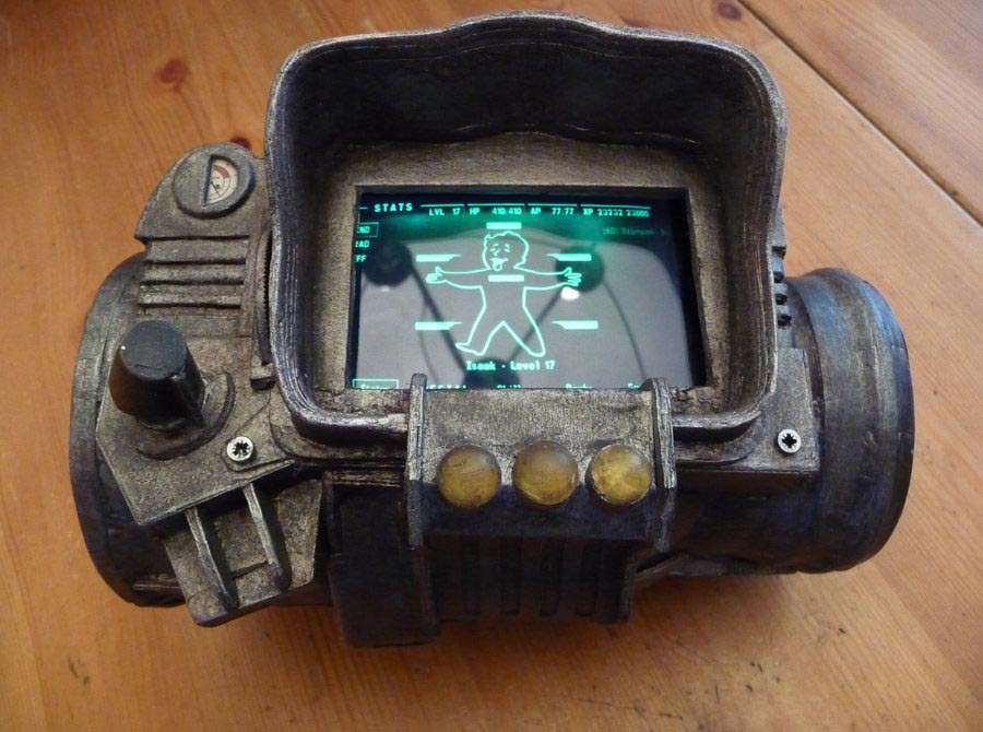how to make a pip boy 3000 from cardboard