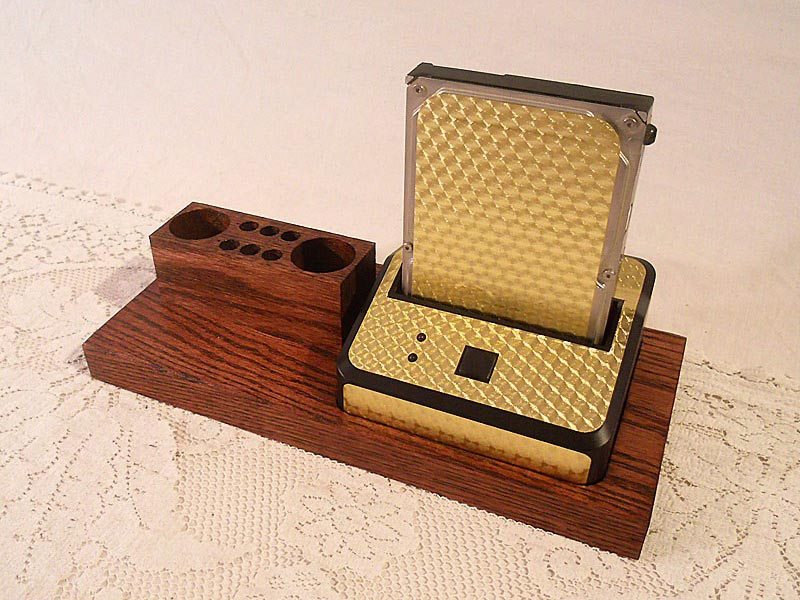 Handmade Hdd Docking Station With 4 Port Usb Hub And Pen