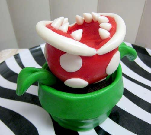 Mario Bros Like Piranha Plant Cupcake?