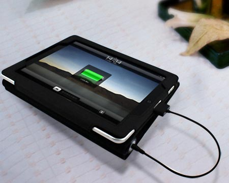 MiPow Juice Book iPad 2 Leather Case with Back Up Battery