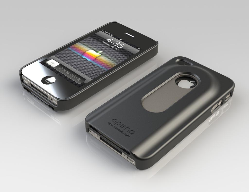 opena iphone 4 case with retractable bottle opener gadgetsin. Black Bedroom Furniture Sets. Home Design Ideas