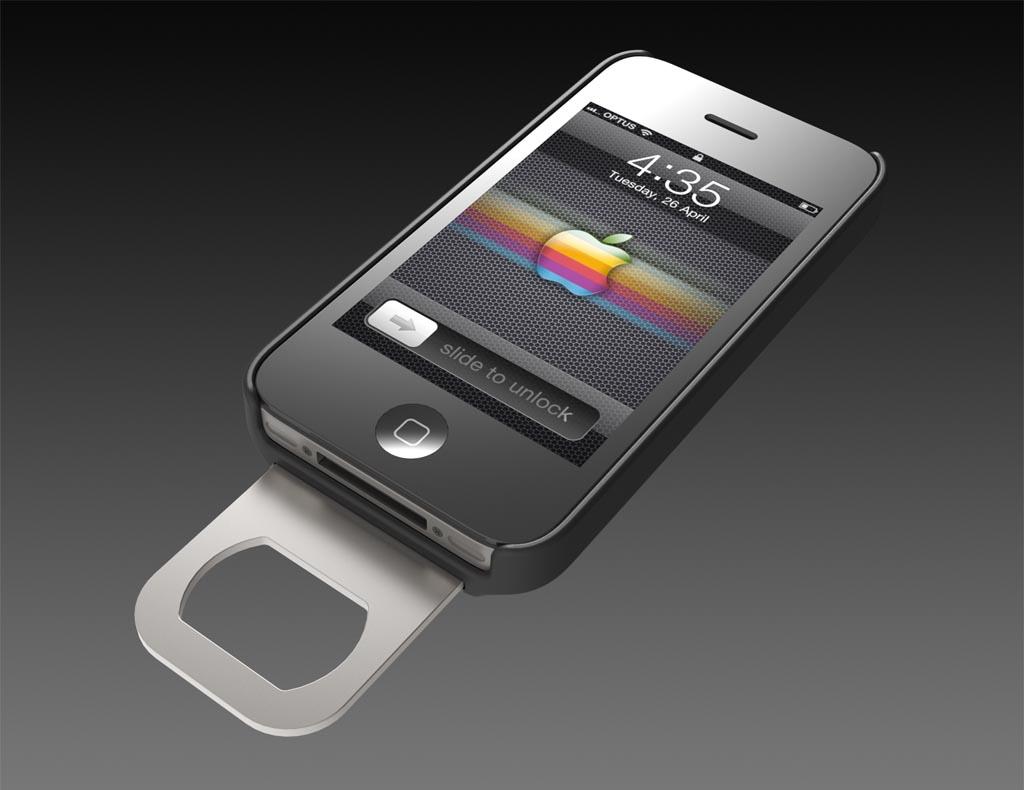 Opena iPhone 4 Case with Retractable Bottle Opener | Gadgetsin