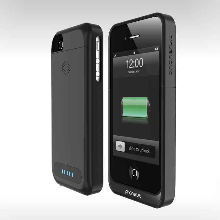 phonesuit elite iphone 4 battery case gadgetsin. Black Bedroom Furniture Sets. Home Design Ideas