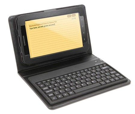 Samsung Galaxy Tab Bluetooth Keyboard Leather Case