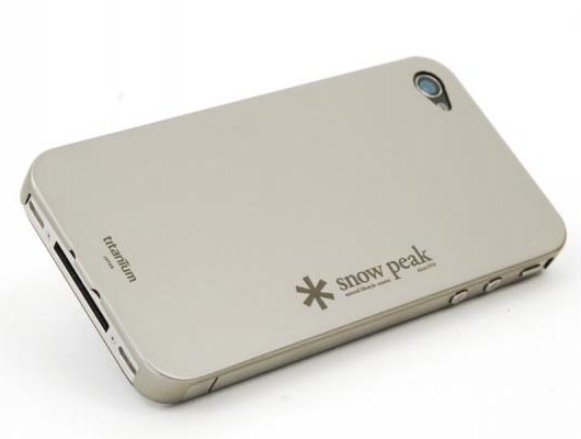 Snow Peak Titanium iPhone 4 Case