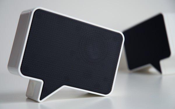 Speak-er Speech Bubble Styled Speakers