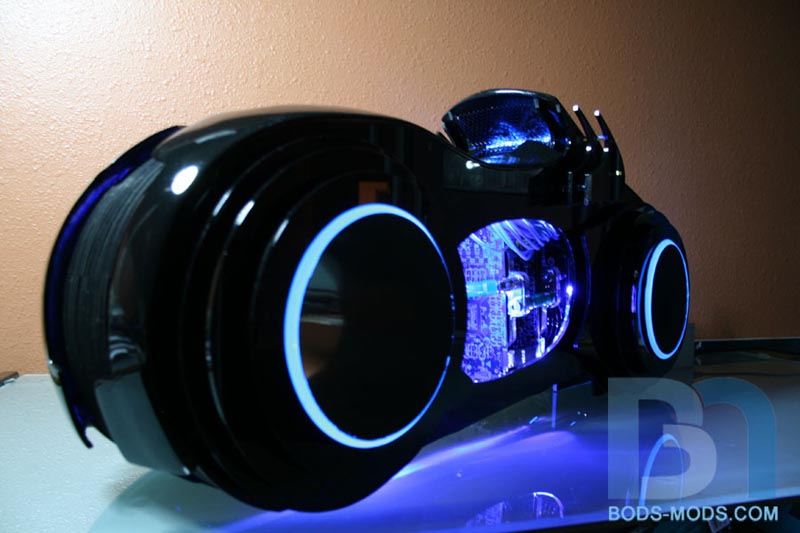 Tron Legacy Light Cycle Computer Case Mod Gadgetsin