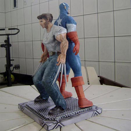 Wolverine and Captain America Paper Crafts