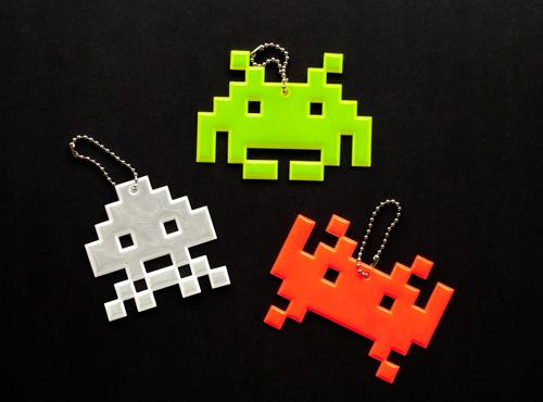 Space Invaders Reflective Charm