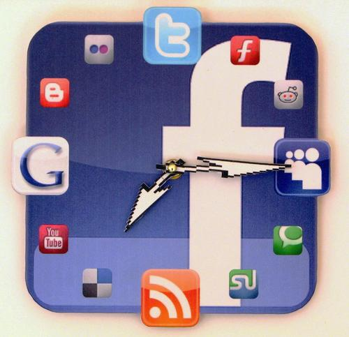 Handmade Facebook Icon Wall Clock
