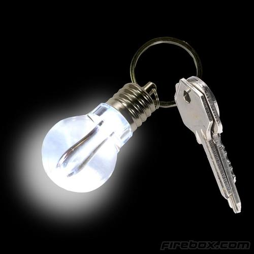 LiteBulb Light Bulb Styled Keychain Light