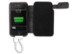 Thanko iPhone 4 Learhe Case with Back Up Battery and Solar Charger