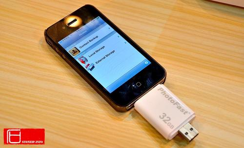 PhotoFast i-FlashDrive External Memory Card for iPhone, iPod Touch and iPad